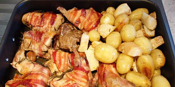 coniglio e patate