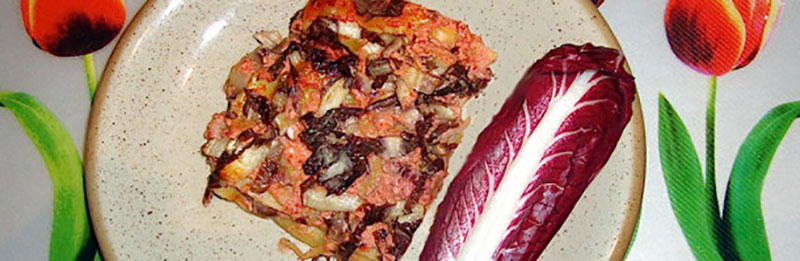 lasagne al radicchio rosso di Treviso