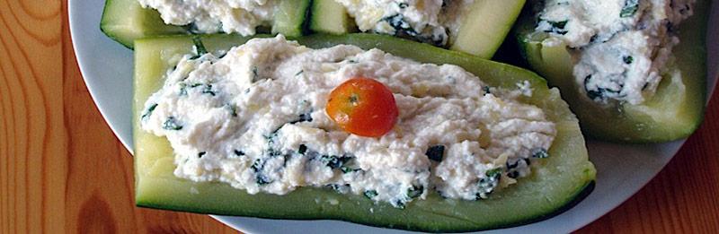 Ecco le zucchin eripiene senza carne