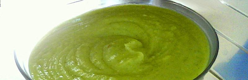 Crema di zucchine con patate