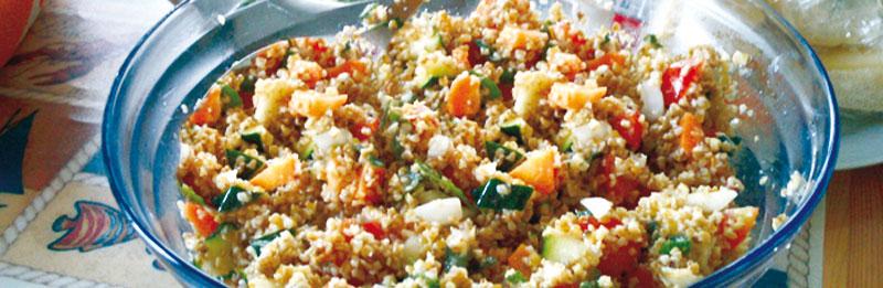 Ricetta di bulgur con verdure