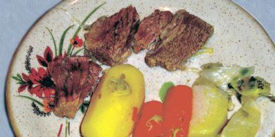 Bollito con verdura cotta