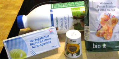 Gli ingredienti per la besciamenlla