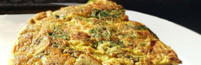 Foto di una frittata con verdure