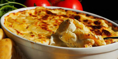Gratin di patate cotte