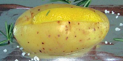 Una patata pronta per la cottura