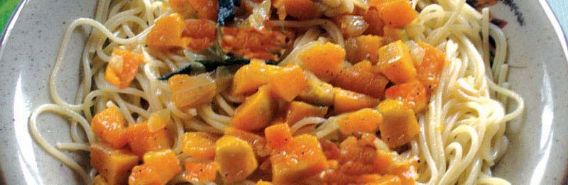 Ottima pasta alla zucca gialla
