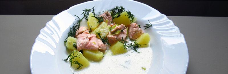 Ecco la zuppa di salmone