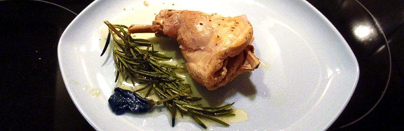 Coniglio con rosmarino al forno