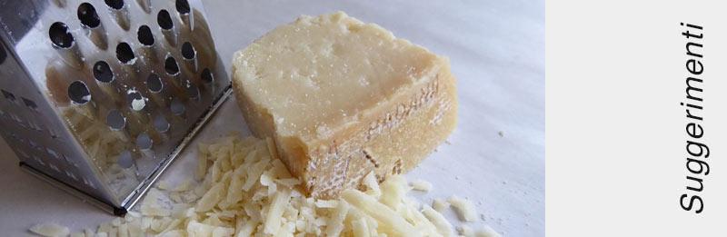 Grattugiare del formaggio molle